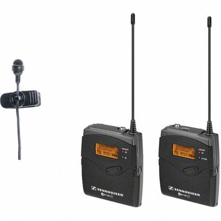 (Sennheiser ew 122-p G3 Camera Mount Wireless Microphone System, Includes EK 100 G3 Diversity Receiver, SK 100 G3 Bodypack Transmitter, ME 4 Clip-on Mi)