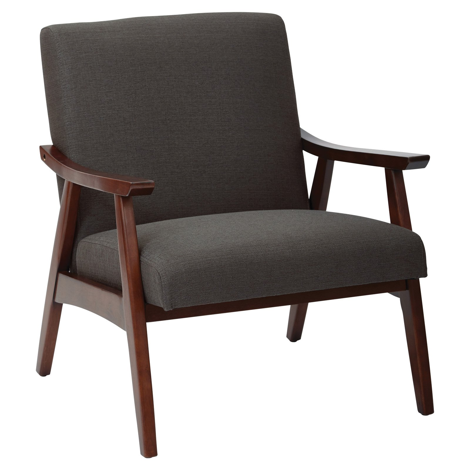 Ave Six Davis Chair, Klein Charcoal fabric with medium Espresso frame