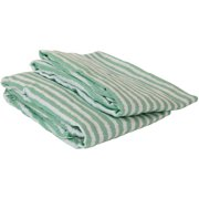 Bacati - Ikat Stripes Crib/Toddler Bed Fitted Sheets 100% Cotton Muslin 2 Pack, Mint