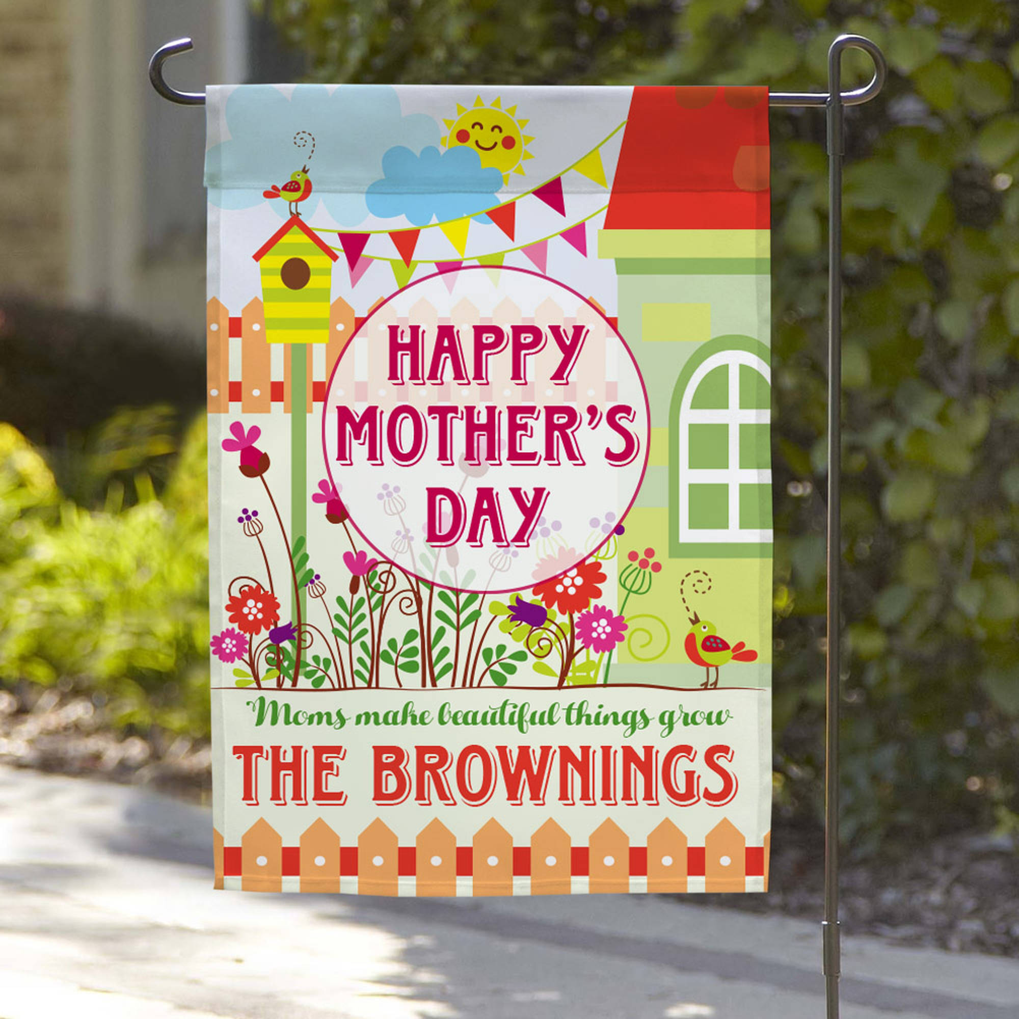 "Happy Mother's Days Custom Garden Flag, 18"" x 12"""
