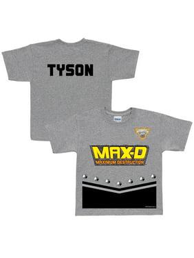 Personalized Monster Jam Max-D Uniform Toddler Boys' T-Shirt, Grey