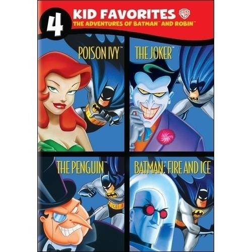 4 Kid Favorites: The Adventures Of Batman And Robin - Poison Ivy / The Joker / The Penguin / Batman: Fire And Ice (Full Frame) WARD483627D