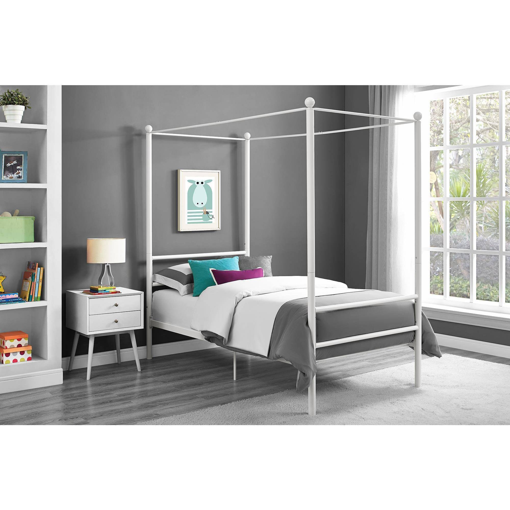 Mainstays Metal Canopy Twin Size Bed