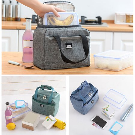Children Lunch Bag insulated Lunch Box, Lunch Organizer Cooler Bags for School Work/Girls Boys Kids Student Women, Travel Lunch Tote,