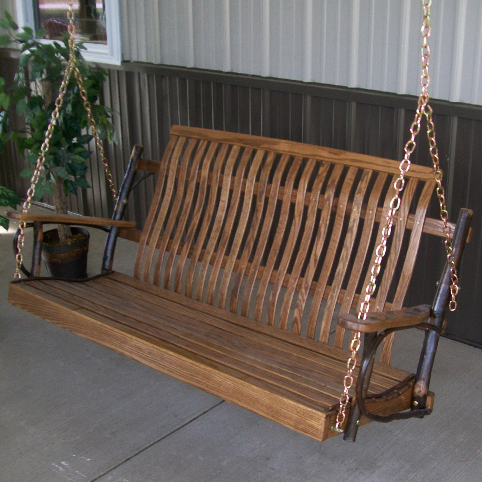 A & L Furniture Hickory Porch Swing