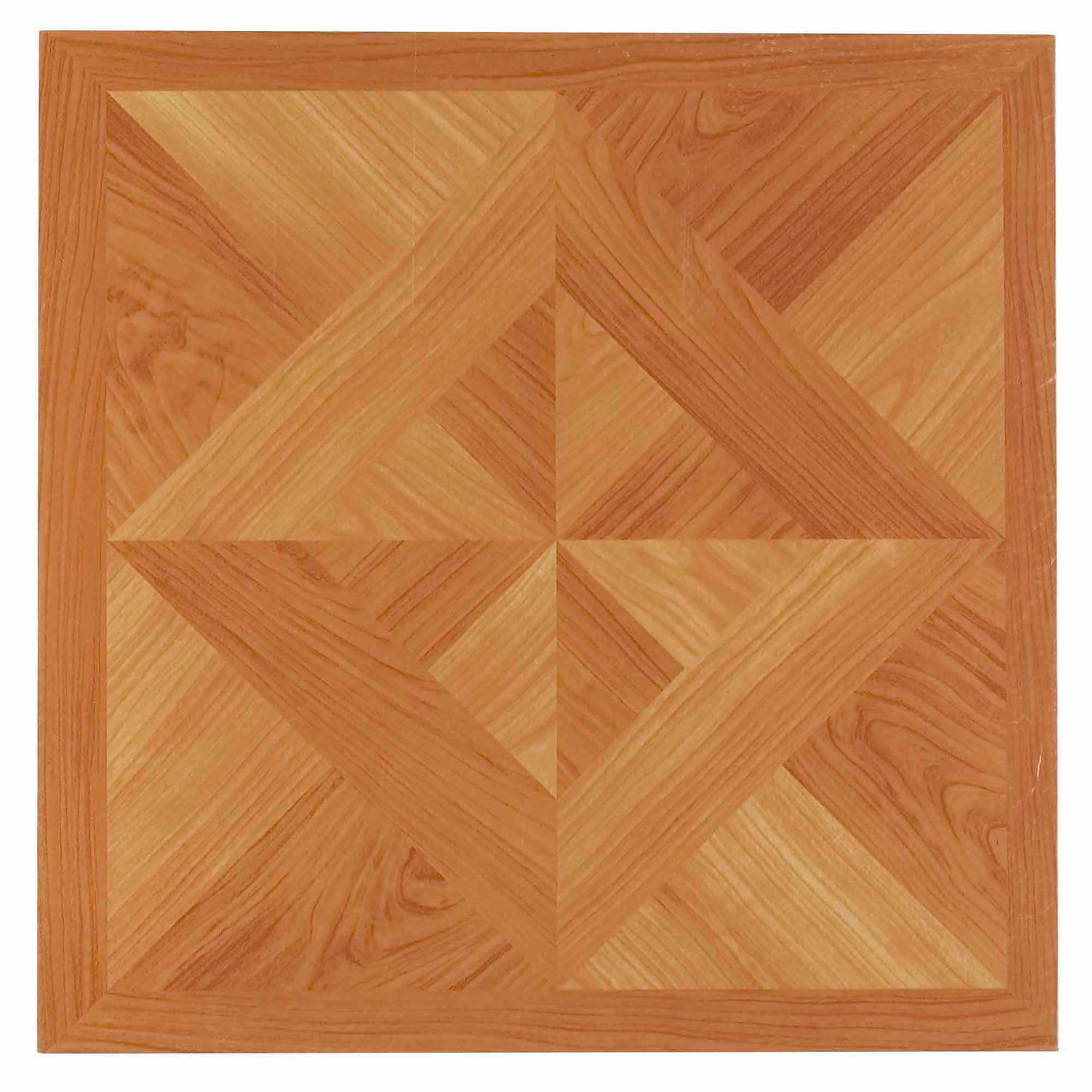 NEXUS Classic Light Oak Diamond Parquet 12x12 Self Adhesive Vinyl Floor Tile - 20 Tiles/20 Sq.Ft.