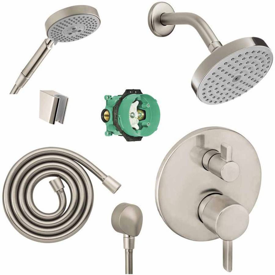 Hansgrohe KSH04447-27486-14PC Raindance Shower Faucet Kit with Handshower PBV Trim with Diverter and Rough-In, Various Colors