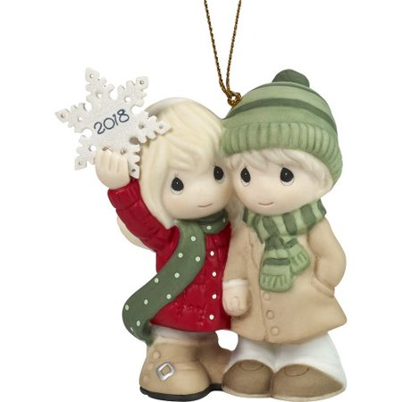 "Precious Moments ""Our First Christmas Together 2018"" Dated Porcelain - First Christmas Together Ball"