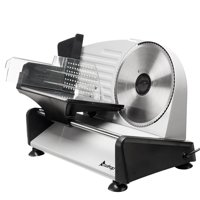 """Zimtown 7.5"""" Gear Electric Meat Cheese Bread Blade Stainless Steel Slicer, Silver"""