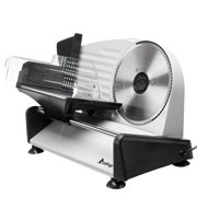 "Zimtown 7.5"" Gear Electric Meat Cheese Bread Blade Stainless Steel Slicer, Silver"