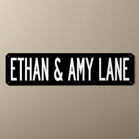 Personalized You Name It Street Sign, Black and White - Personalized It
