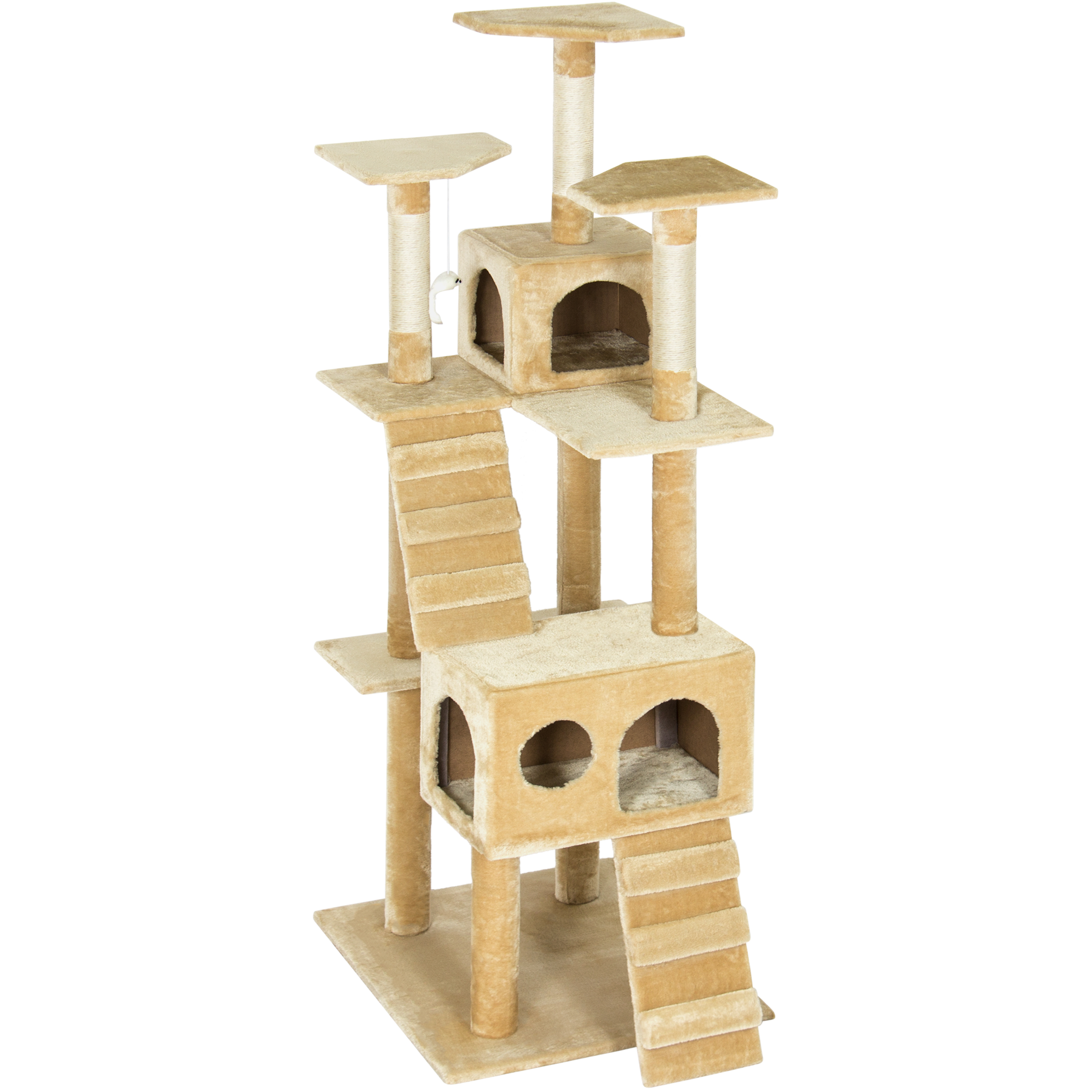 best choice products pet play palace  cat tree scratcher condo  - best choice products pet play palace  cat tree scratcher condo furniturebeige  walmartcom
