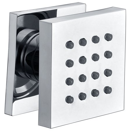 ALFI brand  AB4501-PC Polished Chrome Modern Square Adjustable Shower Body