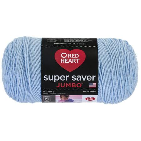 Leech Yarn (Red Heart Super Saver Acrylic Light Blue Yarn, 1 Each)