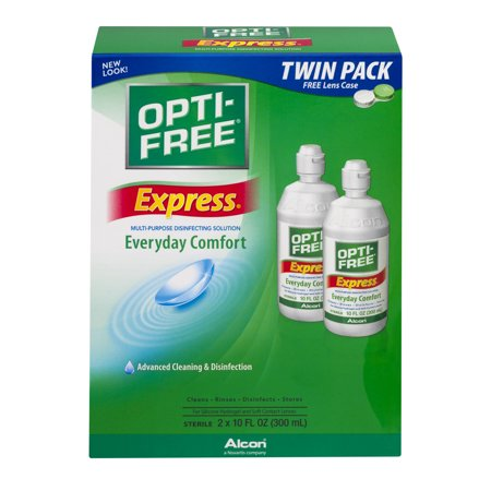 Alcon Opti Free Express Everyday Comfort Multi Purpose Disinfecting Solution  10 Fl Oz  2 Ct