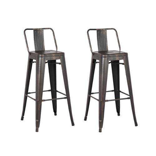 Ac Pacific Steel 24 Inch Bar Stool Set Of 2 Na Walmartcom