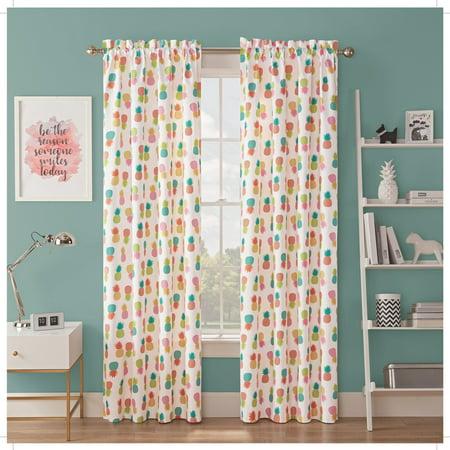 Waverly Kids Spree Pineapple Blackout Single Window Curtain Panel Waverly Drapery Panel