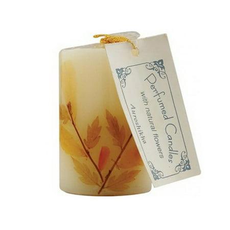 Auroshikha Aroma 4.6 Cms Tuberose Flower Candle, Cylindrical Shape - 1 (Tubereuse Candle)