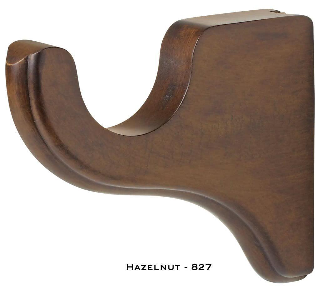 "Bracket - 3 ½"" projection - Kirsch Wood Trends - 2"" - Hazelnut"
