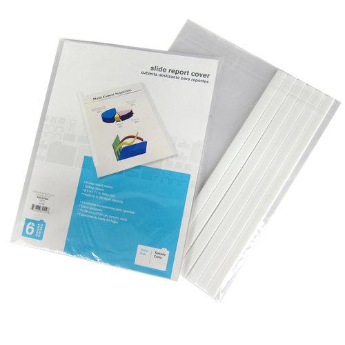 Slide Grip Report Cover, Letter Size, 6pk