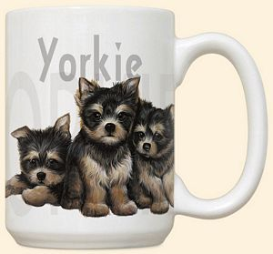 Yorkie Puppies Mug by Fiddler's Elbow - C105FE