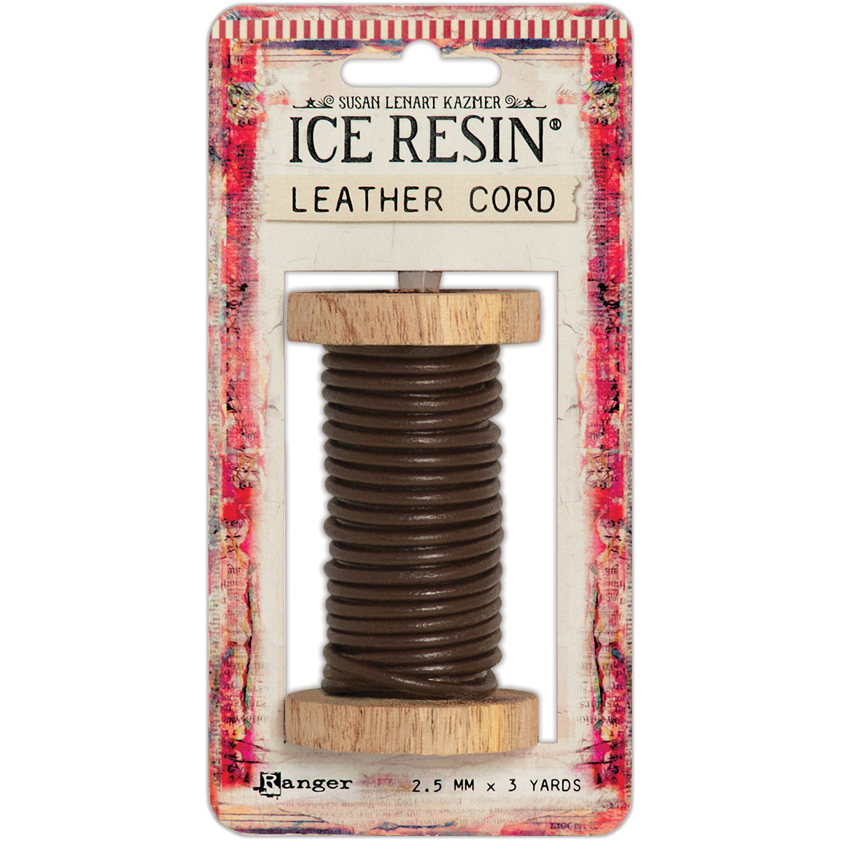 Ice Resin Leather Cording Soft 2.5mm-Dark Brown
