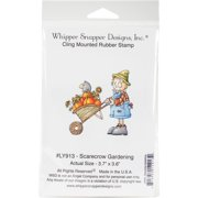 "Whipper Snapper Cling Stamp 4""x6""-scarecrow Gardening"