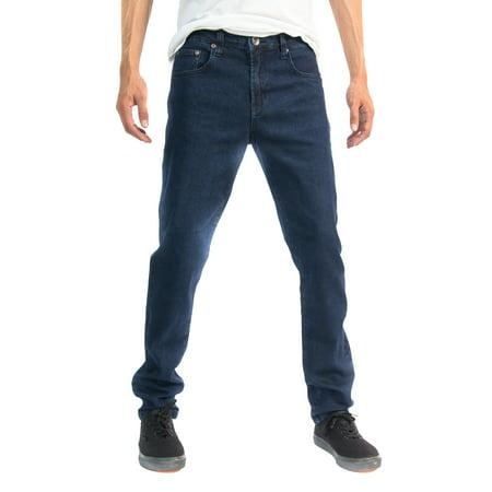 Classic Fit Green - Designer Fashion Mens Stretch Slim Straight Fit Skinny Denim Jeans
