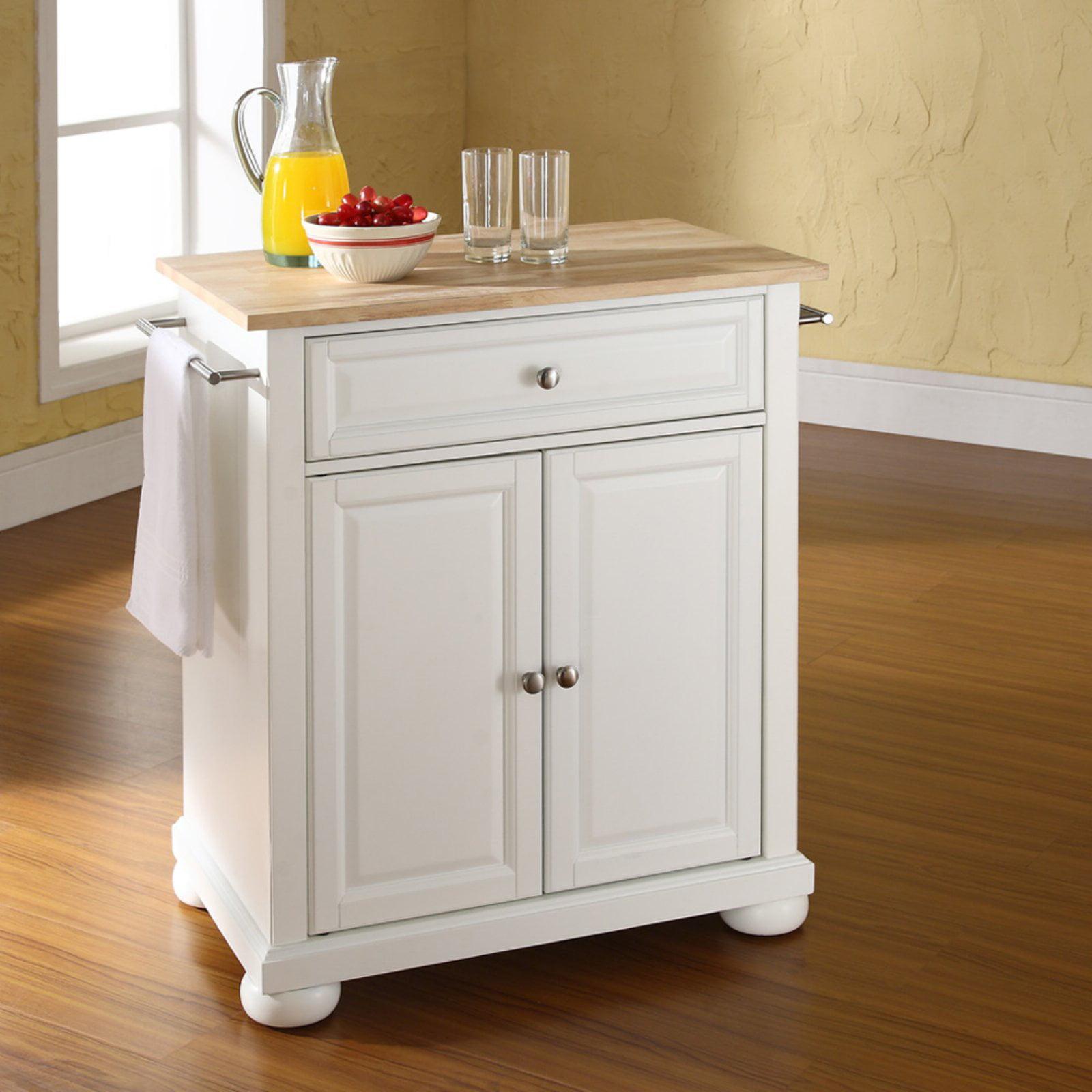 crosley furniture alexandria natural wood top portable