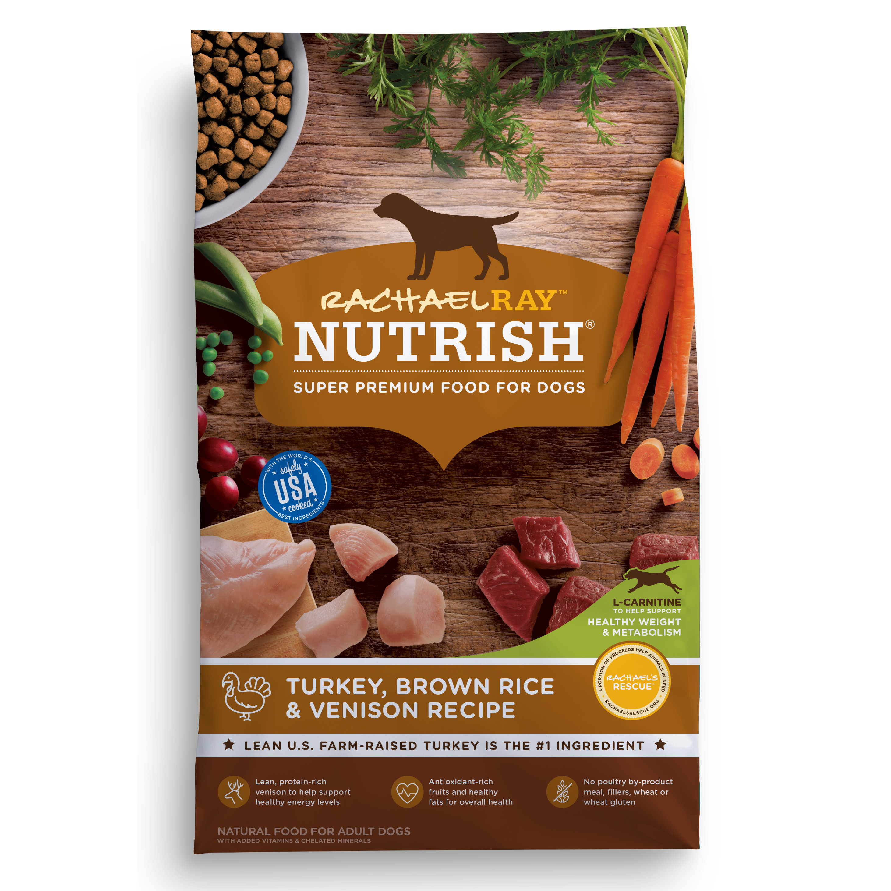Rachael Ray Nutrish Natural Dry Dog Food, Turkey, Brown Rice & Venison Recipe, 13 lbs by AINSWORTH PET NUTRITION