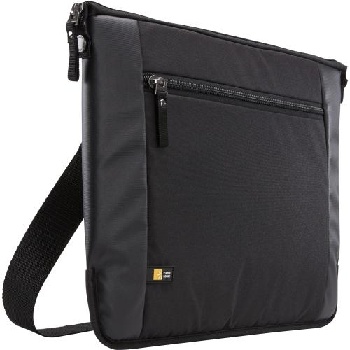 "Case Logic INT115BLACK Case Logic Intrata INT-115 Carrying Case (Attach ) for 16"" Notebook, Accessories, Cable, Cellular Phone, Pen - Black - Polyester - Shoulder Strap,"