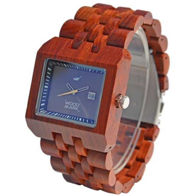 Wood Mark ZS-W017A Mens Ranier Red Sandalwood Watch