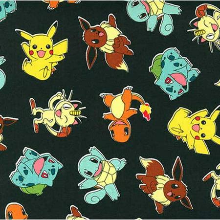 Robert Kaufman Fabrics Pokemon Characters Jet Black - Robert Kaufman Halloween Fabric