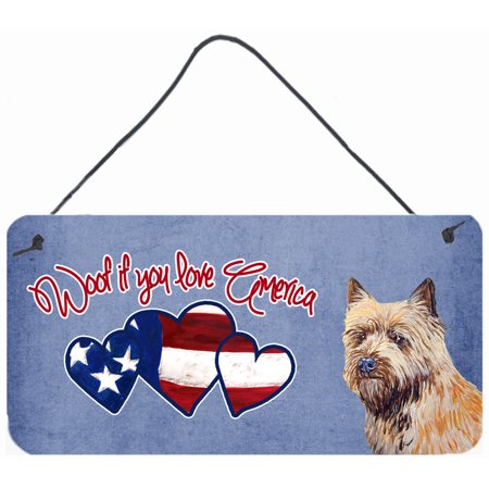 Woof if you love America Cairn Terrier Wall or Door Hanging Prints LH9535DS612