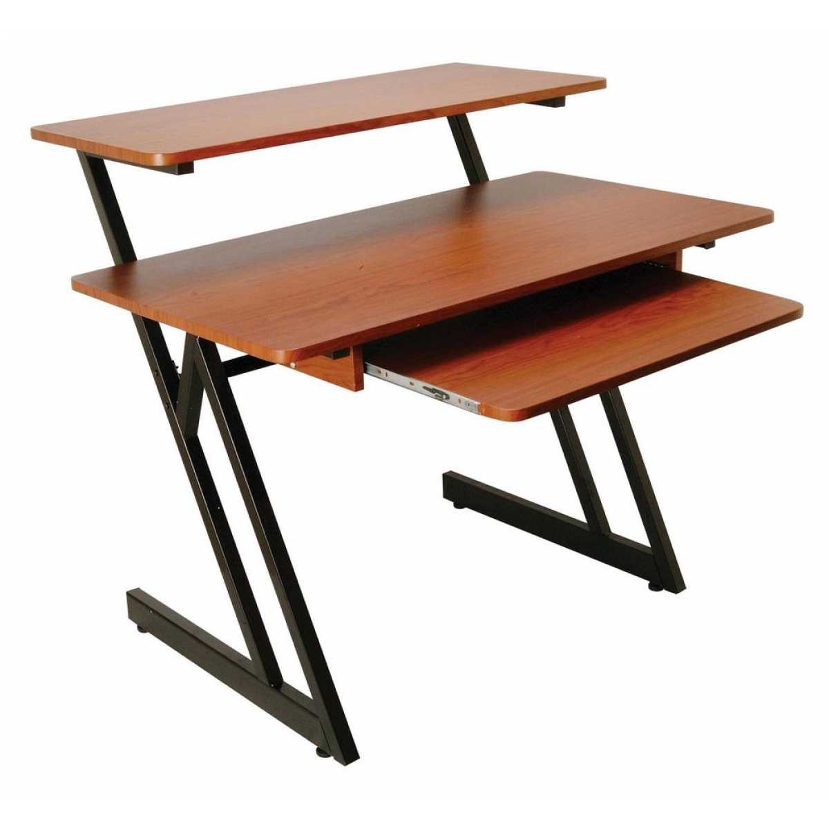 On-Stage WS7500RB WS7500 Series Wood Workstation (Rosewood/Black Steel)