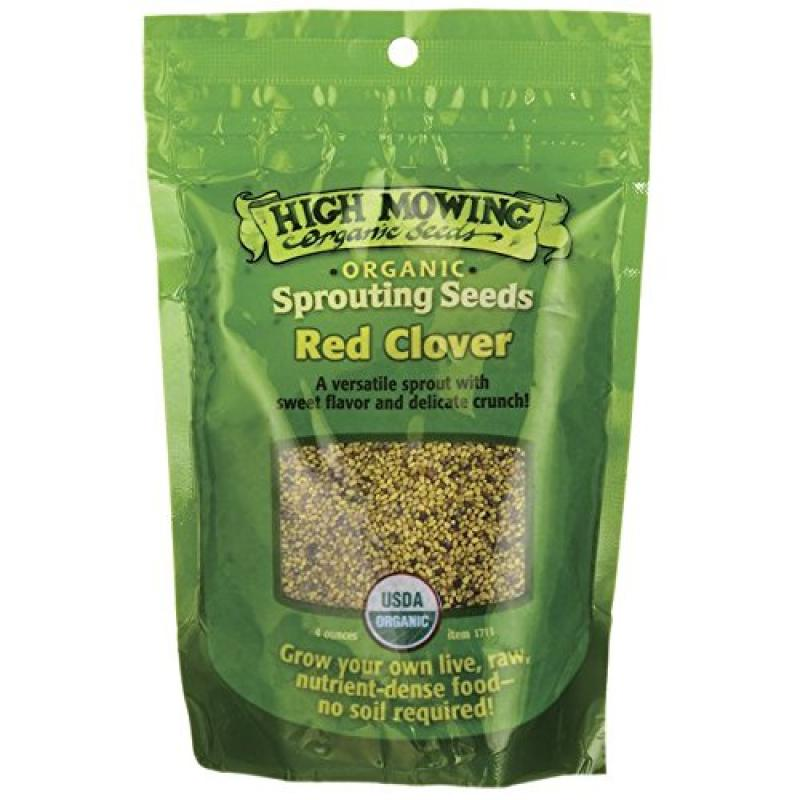 High Mowing Organic Seeds Sprouting Seeds Red Clover 4 oz Pkts by