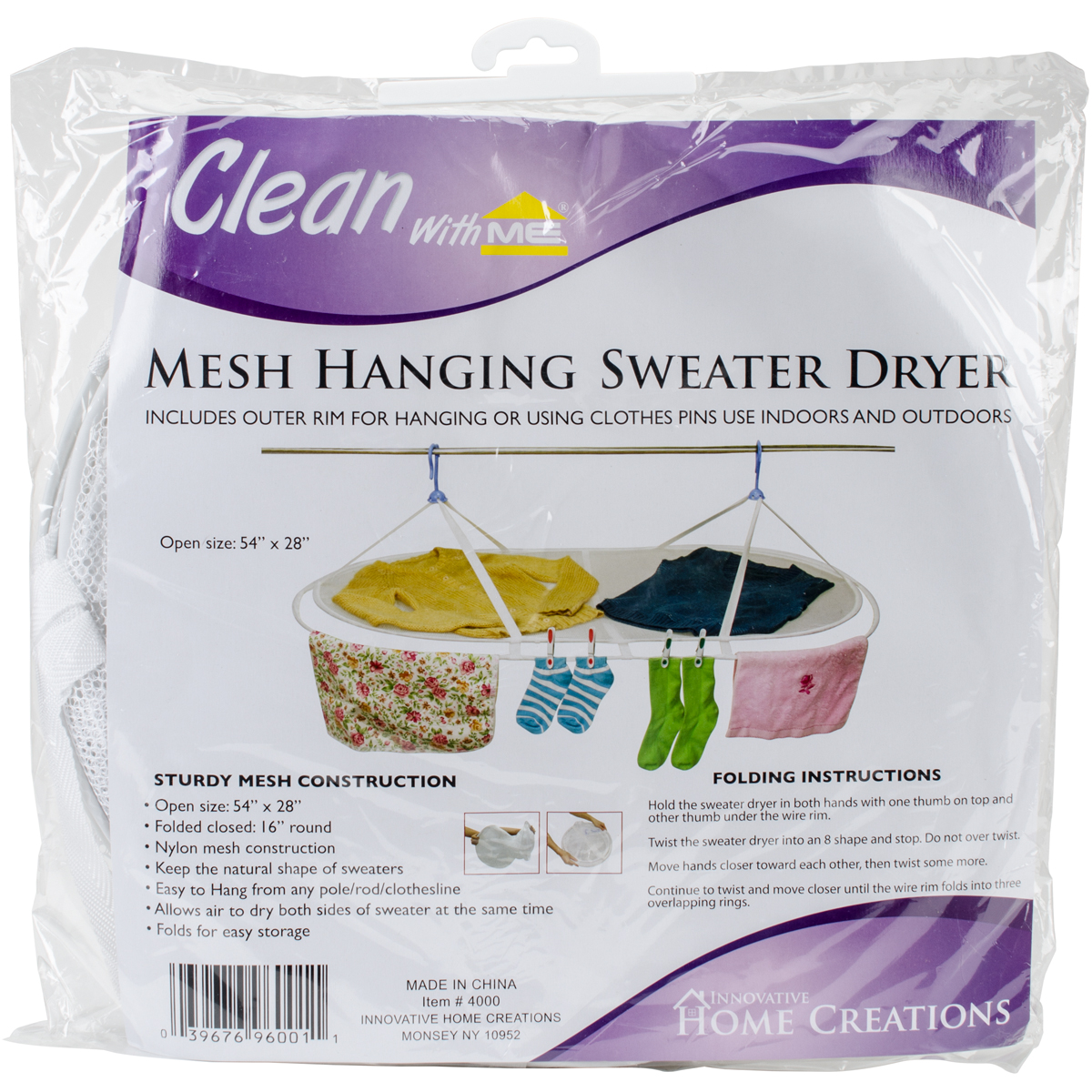 "Innovative Home Creations Jumbo Sweater Dryer 54""X28""White"