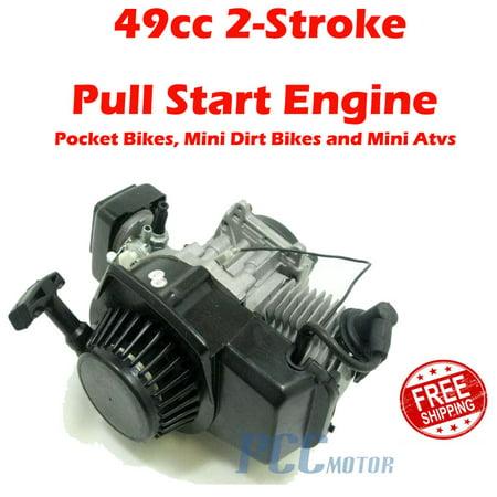 49CC 2-STROKE ENGINE MOTOR PULL START POCKET MINI DIRT BIKE SCOOTER ATV EN02 2 Stroke Aircraft Engine