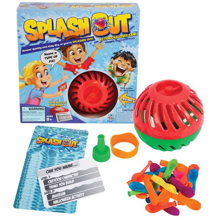 Splash Out Game Indoor/Outdoor Fun Trivia And Water Balloon Challenge](Halloween Trivia Adults)