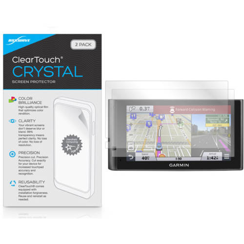 BoxWave ClearTouch Crystal HD Film Skin for Garmin nuviCam, 2-Pack