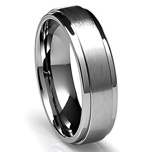 mens titanium wedding bands - Tungsten Mens Wedding Rings