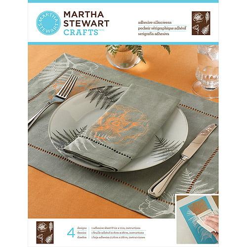 """Martha Stewart Adhesive Silkscreen 8.5""""X11"""" 1 Sheet/Pkg""""-Botanical 4 Designs"""