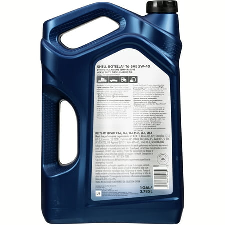 Shell rotella t6 5w 40 full synthetic heavy duty diesel for Top 1 motor oil review