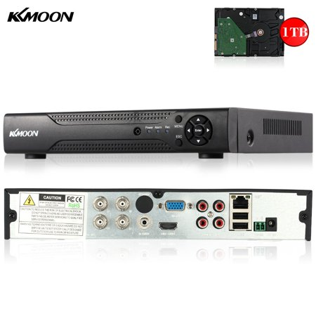 Kkmoon 4Ch Channel Full 1080N 720P Ahd Dvr Hvr Nvr Hd  Digital Video Recorder   1Tb Hard Disk