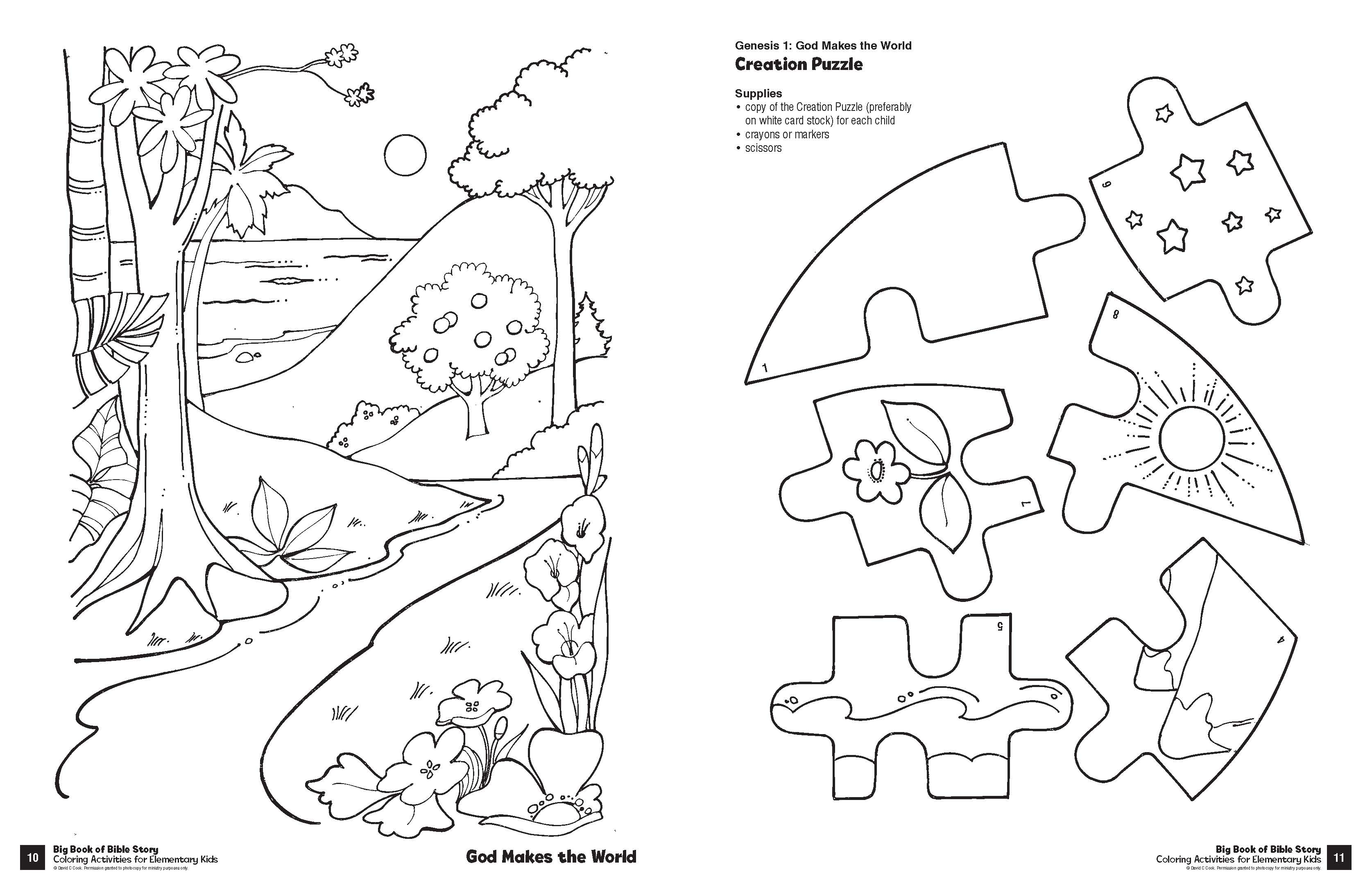 - Big Book Of Bible Story Coloring Activities For Elementary Kids