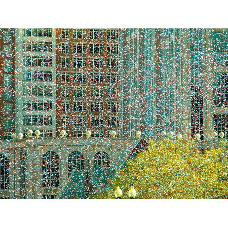 Canvas Print Boston Festivity Confetti Copley Square Celebration Stretched Canvas 10 x 14