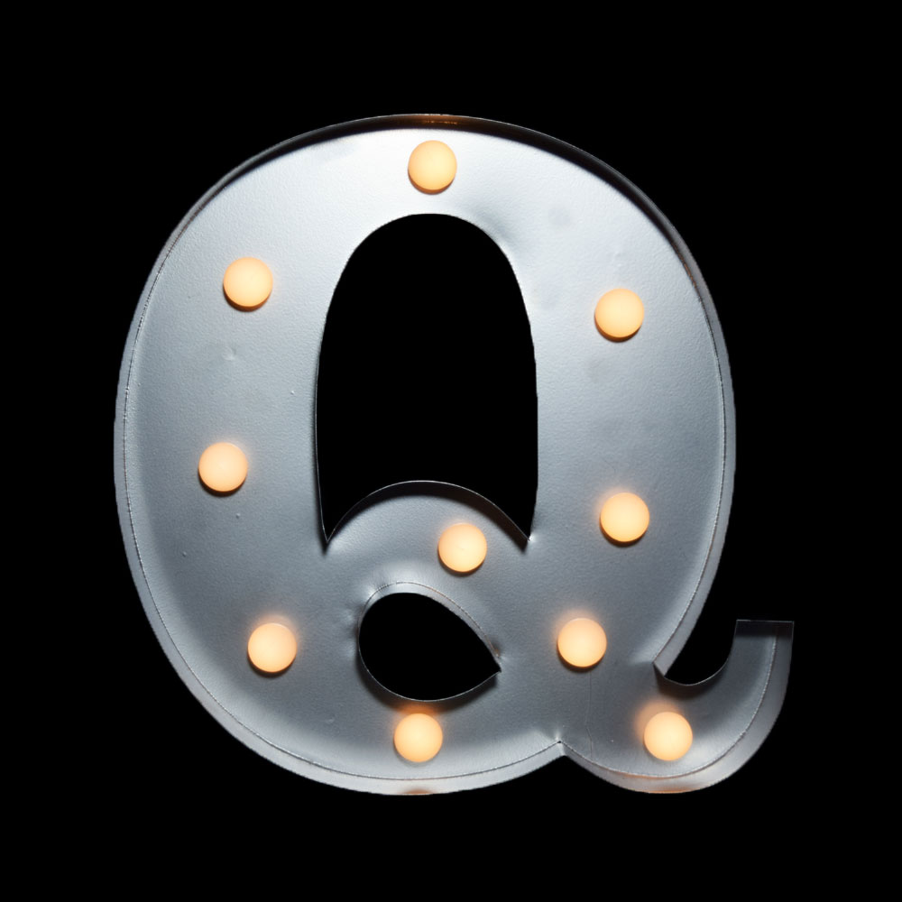 Marquee Light Letter 'Q' LED Metal Sign (10 Inch, Battery Operated) -  Walmart.com