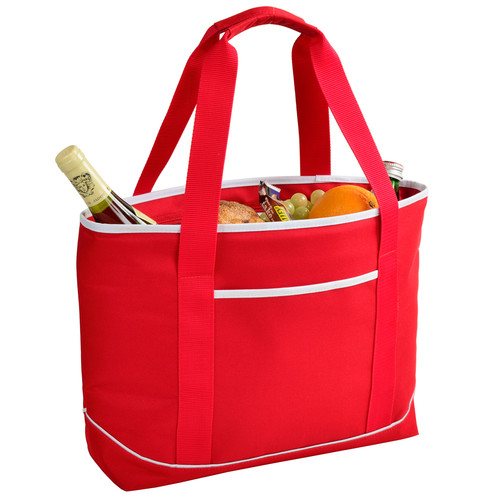 Large Insulated Cooler Bag in Red and White