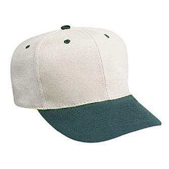 OTTO Brushed Bull Denim 6 Panel Pro Style Baseball Cap -