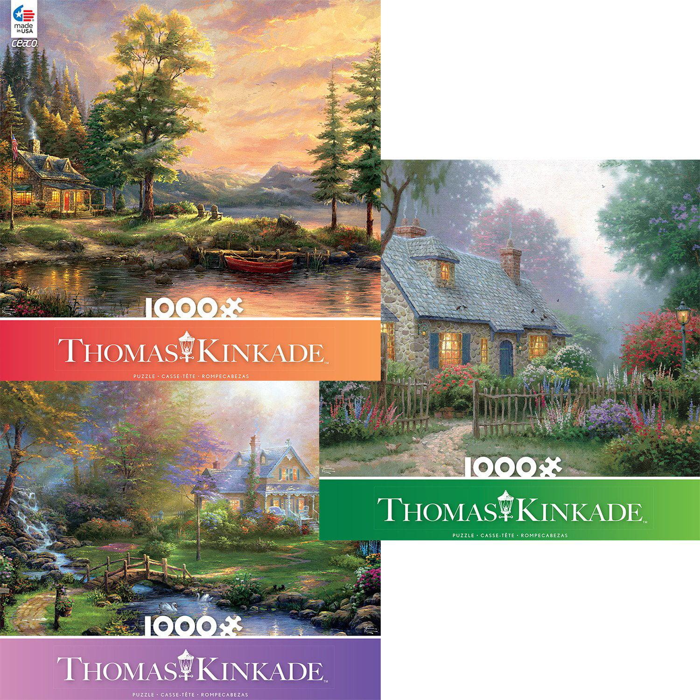 Ceaco Thomas Kinkade Classic Collection 1000 Piece Jigsaw...